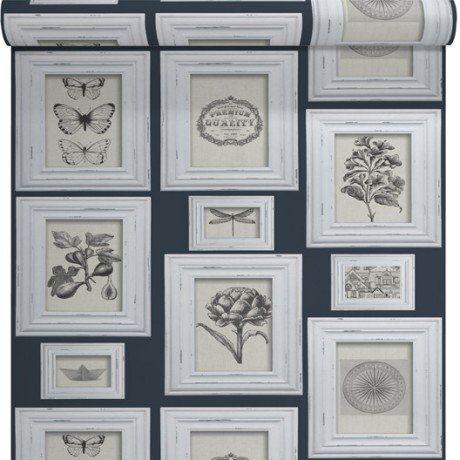papier peint vinyle sur intiss cadre naturaliste bleu larg m home deco pinterest. Black Bedroom Furniture Sets. Home Design Ideas
