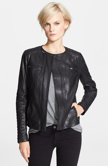 Vince Quilted Leather Moto Jacket available at #Nordstrom ... : vince quilted jacket - Adamdwight.com