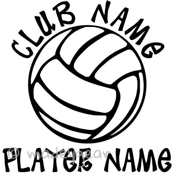 Car Window Vinyl Decal Sticker Sports Volleyball Personalized - Team window decals personalized