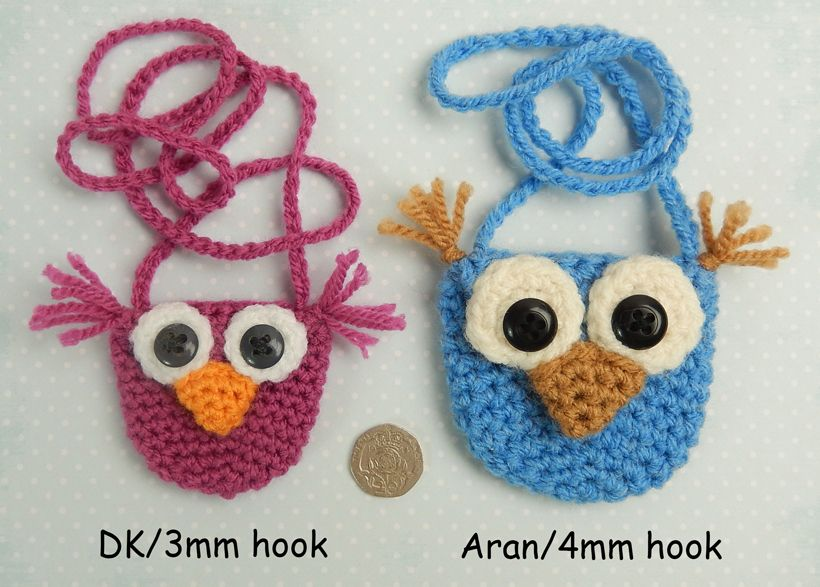 820Sizes | Crochet | Pinterest | Patrón libre, Owl y Carteras/monederos