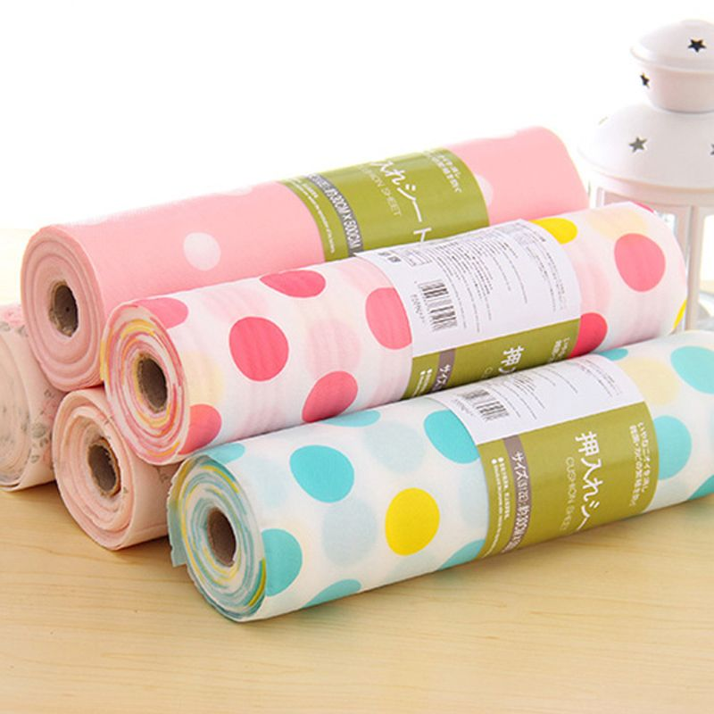 30X300CM/PC(1 Roll) Colorful Kitchen Drawer Mat Waterproof Drawer Paper  Practical Table