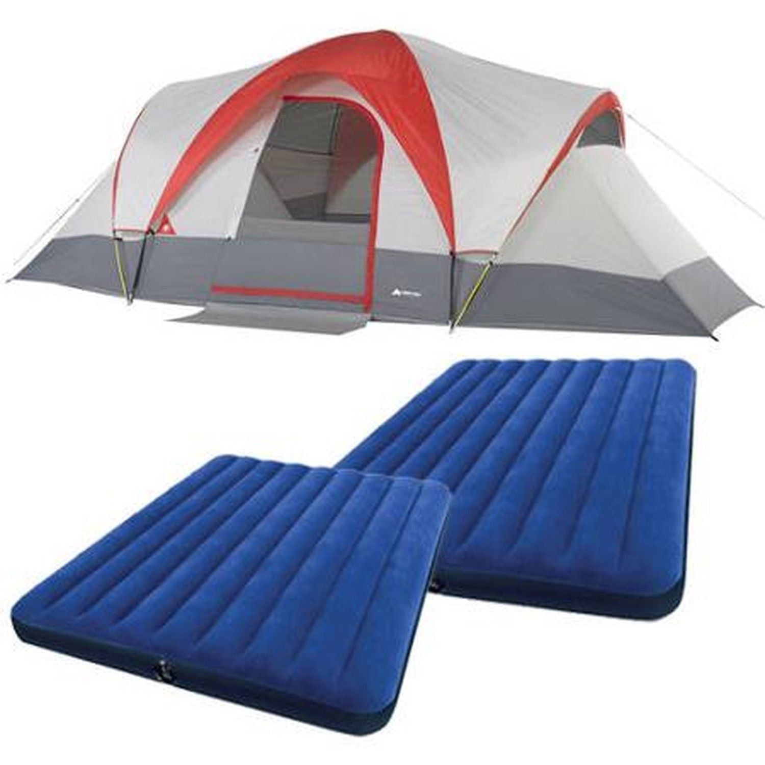Ozark Trail Weatherbuster Person Dome Tent with Two Queen Airbeds