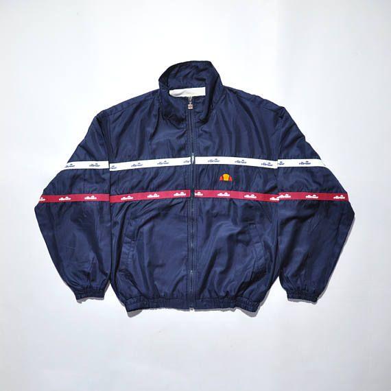 daf9deafab519 Vintage ELLESSE Track Jacket / Vintage ELLESSE Windbreaker / ELLESSE ...
