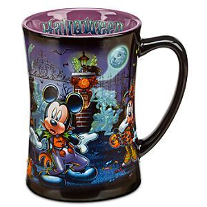 Disney Mickey Mouse Mug - Halloween | Disney StoreMickey Mouse Mug - Halloween - Scare up some fun with this delightful, Halloween Time mug featuring Mickey and friends at the Haunted Mansion. All is spooky fun until the hitchhiking ghosts ''come out to socialize''. That'll get you going better than coffee!