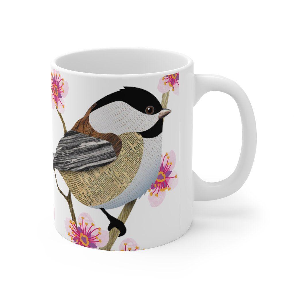 Chickadee Blossom Mug - 11oz