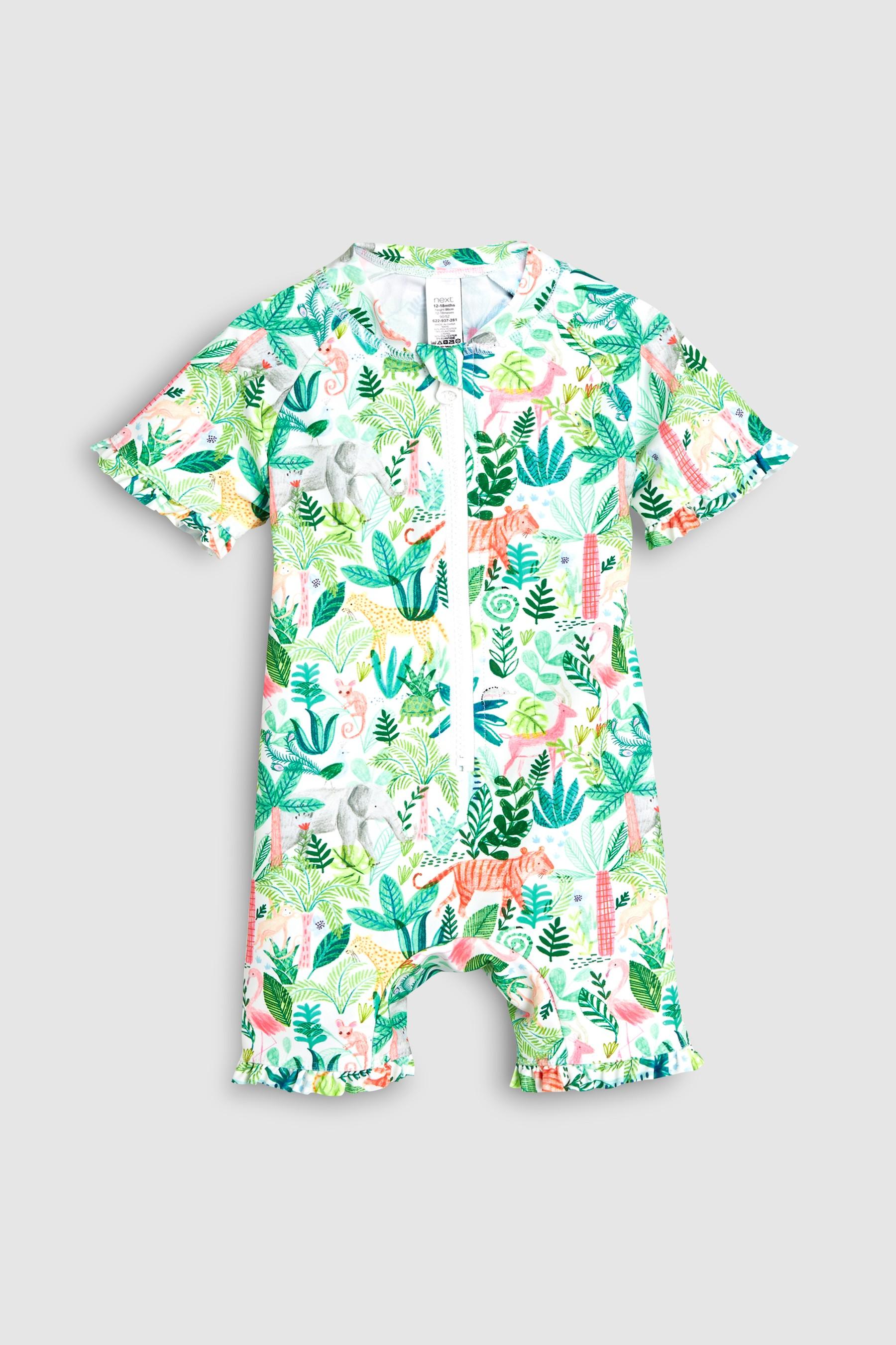 206e32f233769 Girls Next Jungle Print Sunsafe Suit (3mths-7yrs) - Green in 2019 ...