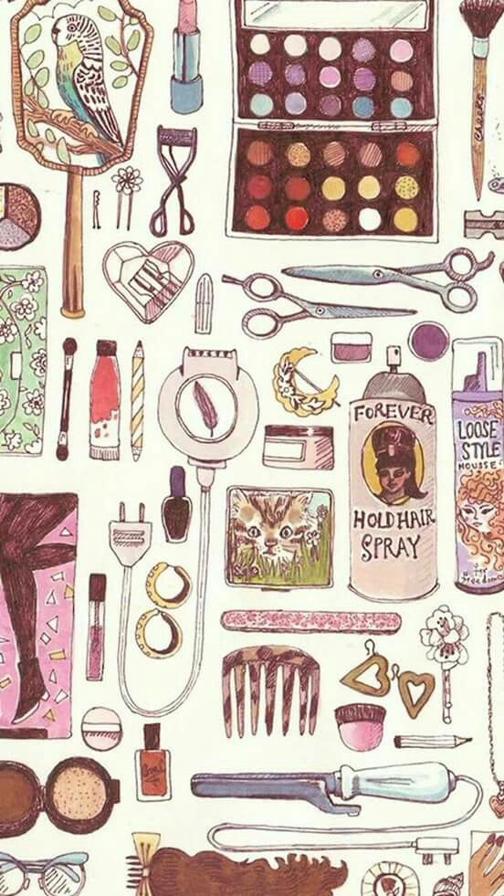 Pin By Naiki On Maquillaje Wallpaper Iphone Love Makeup Wallpapers Iphone Background Art