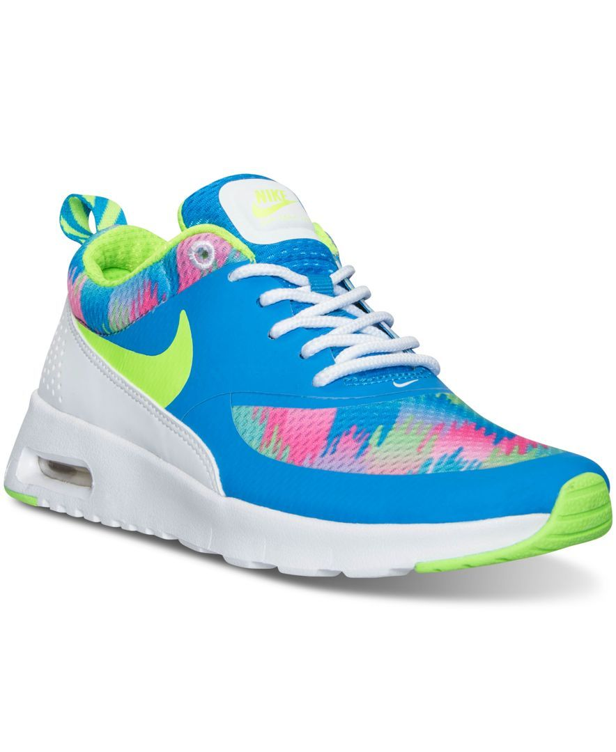 Nike Girls' Air Max Thea Print Running Sneakers from Finish
