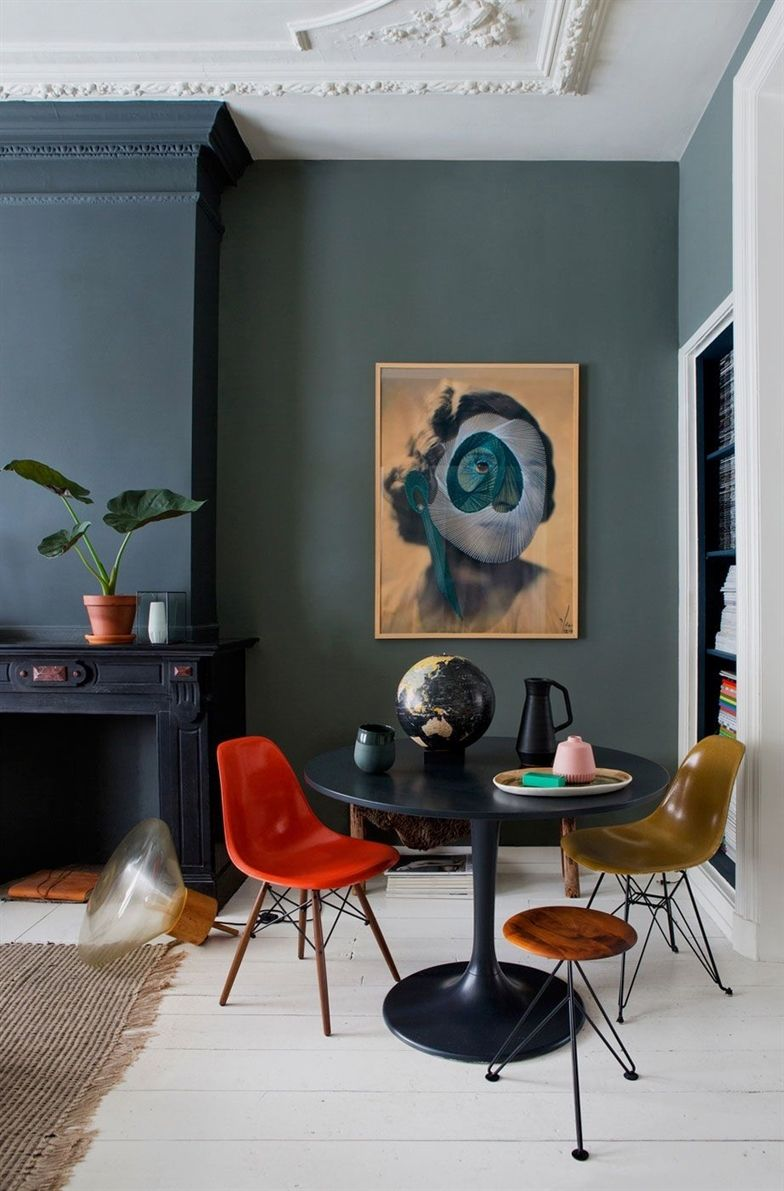 Home decorated by interior design and concept studio in the netherlands sfgirlbybay kitcheninterior also abstract wall art colorful woman portrait print digital rh pinterest