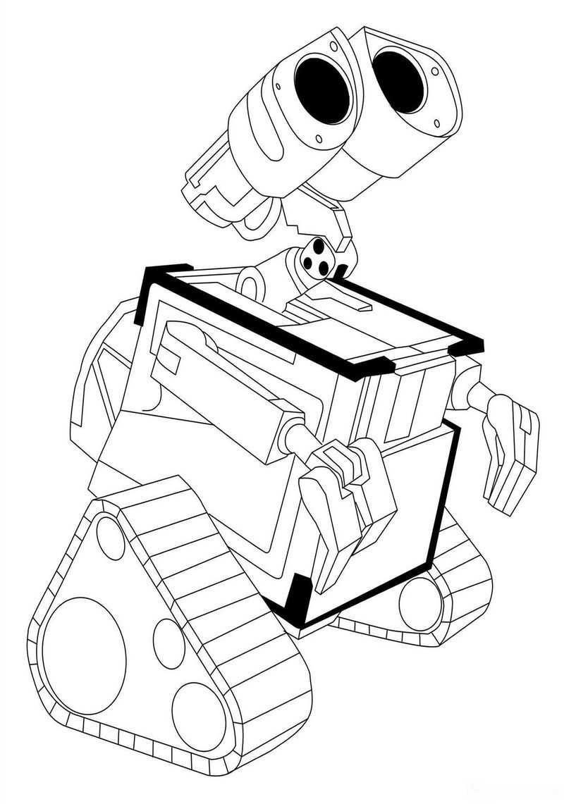 Wall E Coloring Page Pdf Coloring Pages Cartoon Coloring Pages Disney Coloring Pages