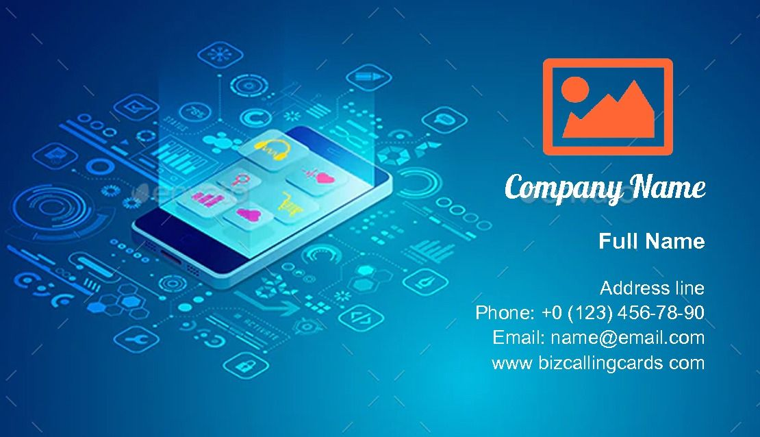 Mobile Apps Business Card Template Vector Eps Download Https Graphicriver Net Item Mobile Apps Business Business Cards Creative Make Business Cards Cards