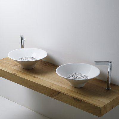 Ws Bath Collections Deco Ceramic Circular Vessel Bathroom Sink Wayfair In 2020 Ws Bath Collections Bathroom Sink Drain Wall Mounted Bathroom Sinks