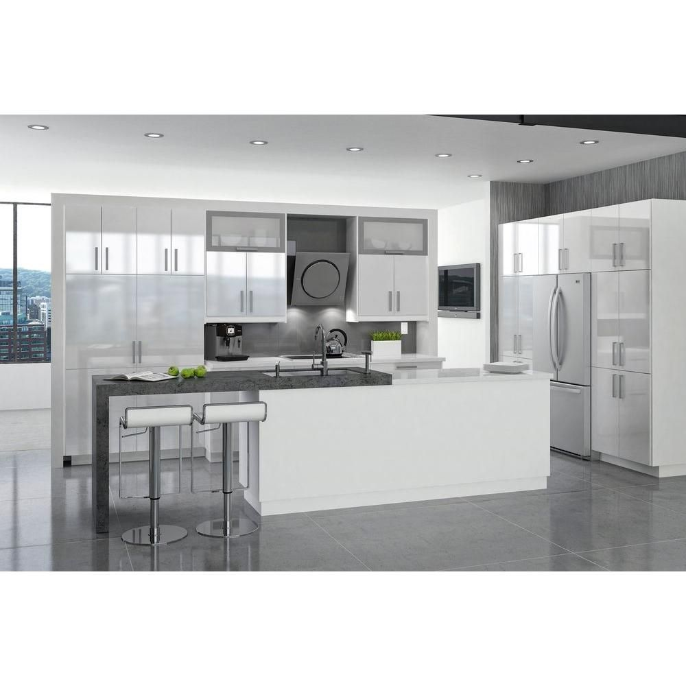 Eurostyle 15x83 5x24 5 In Valencia Pantry Cabinet In White Melamine And Door In White Galley Style Kitchen Modern Home Interior Design Kitchen Inspirations