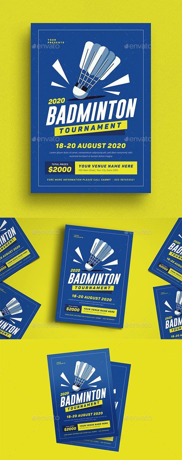 Badminton #Tournament #Event Flyer - Sports Events   Event