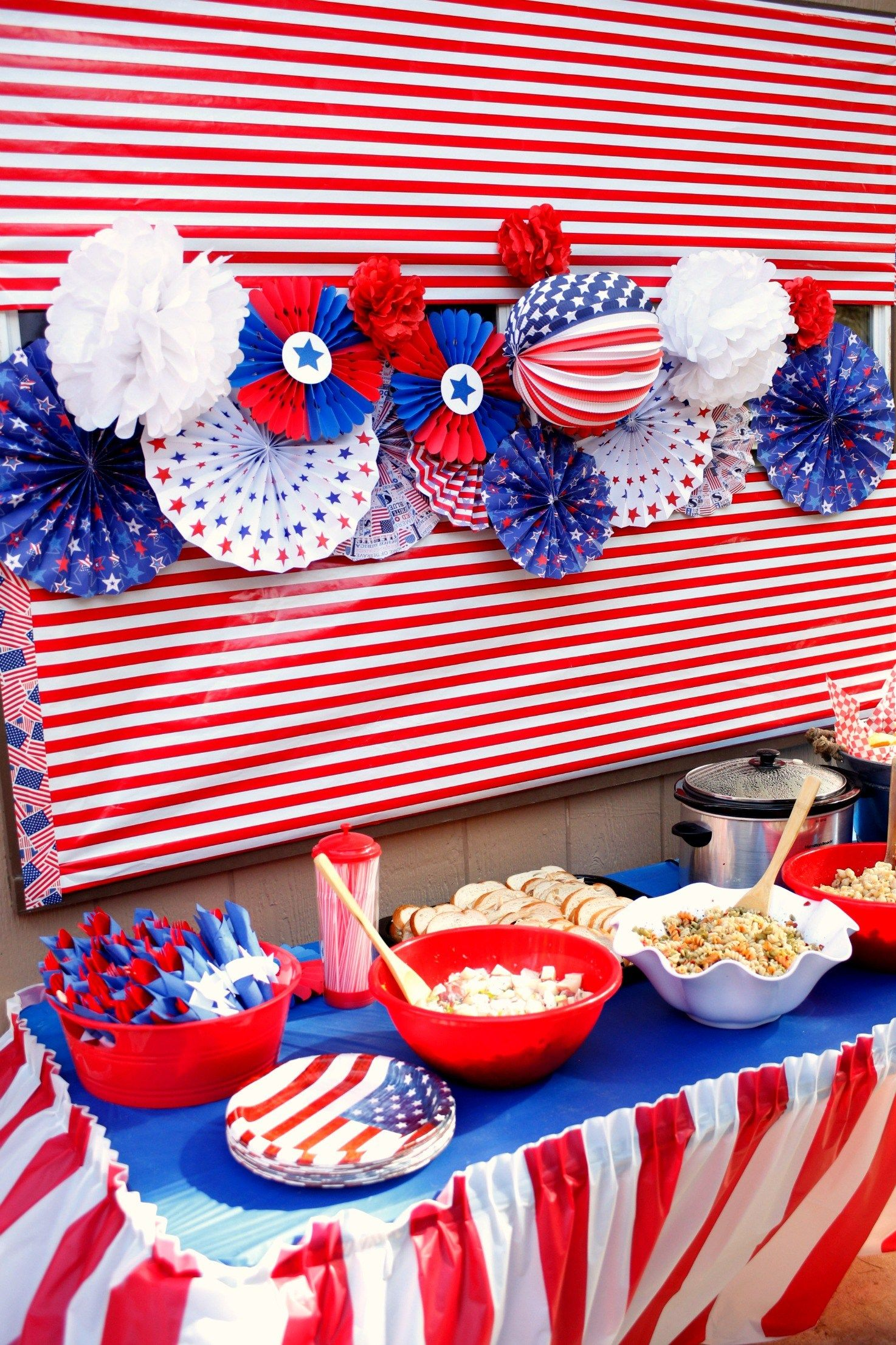 Red White And Blue 4th Of July Party 4th Of July Party