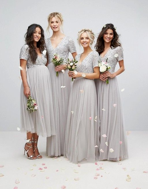 Beautifully embellished wedding bridesmaid dresses. love, love, love ...