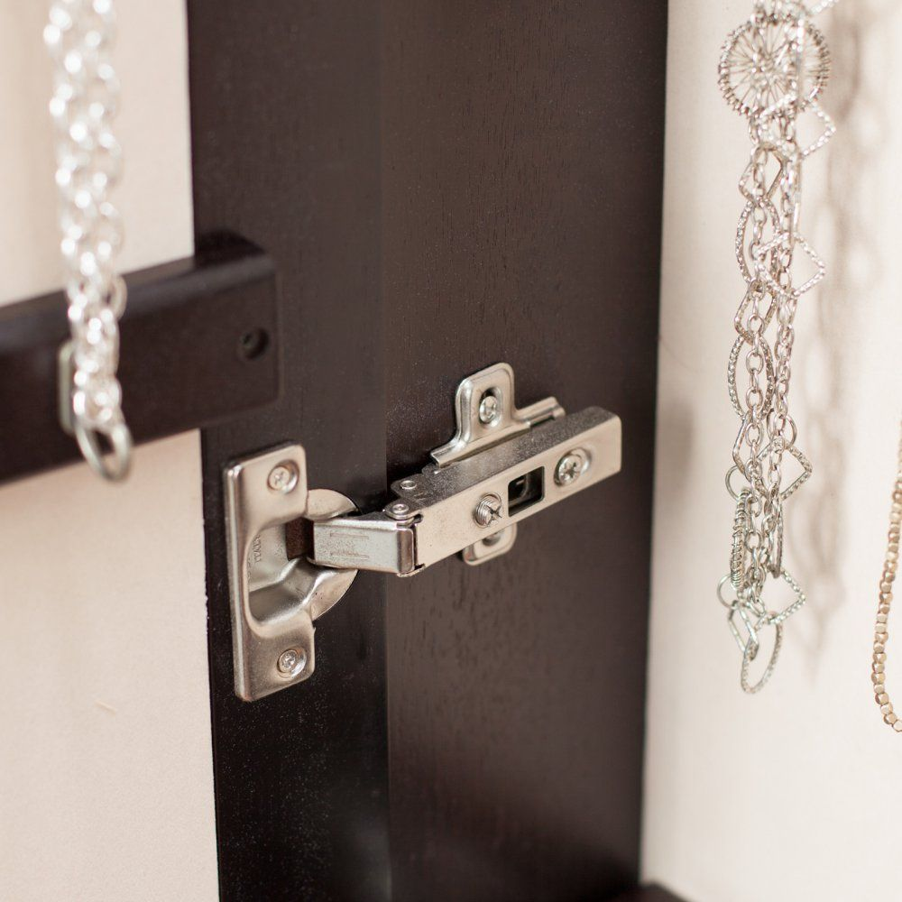 Belham Living Lighted Wall Mount Locking Jewelry Armoire