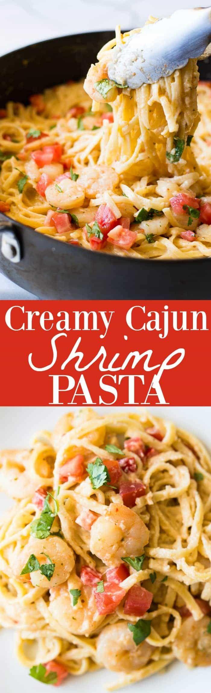 Creamy Cajun Shrimp Pasta Recipe Cajun Shrimp Pasta Pasta Dishes Creamy Pasta