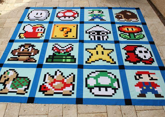 Super Mario Bros. Quilt Top | Super mario, Mario und Projekte