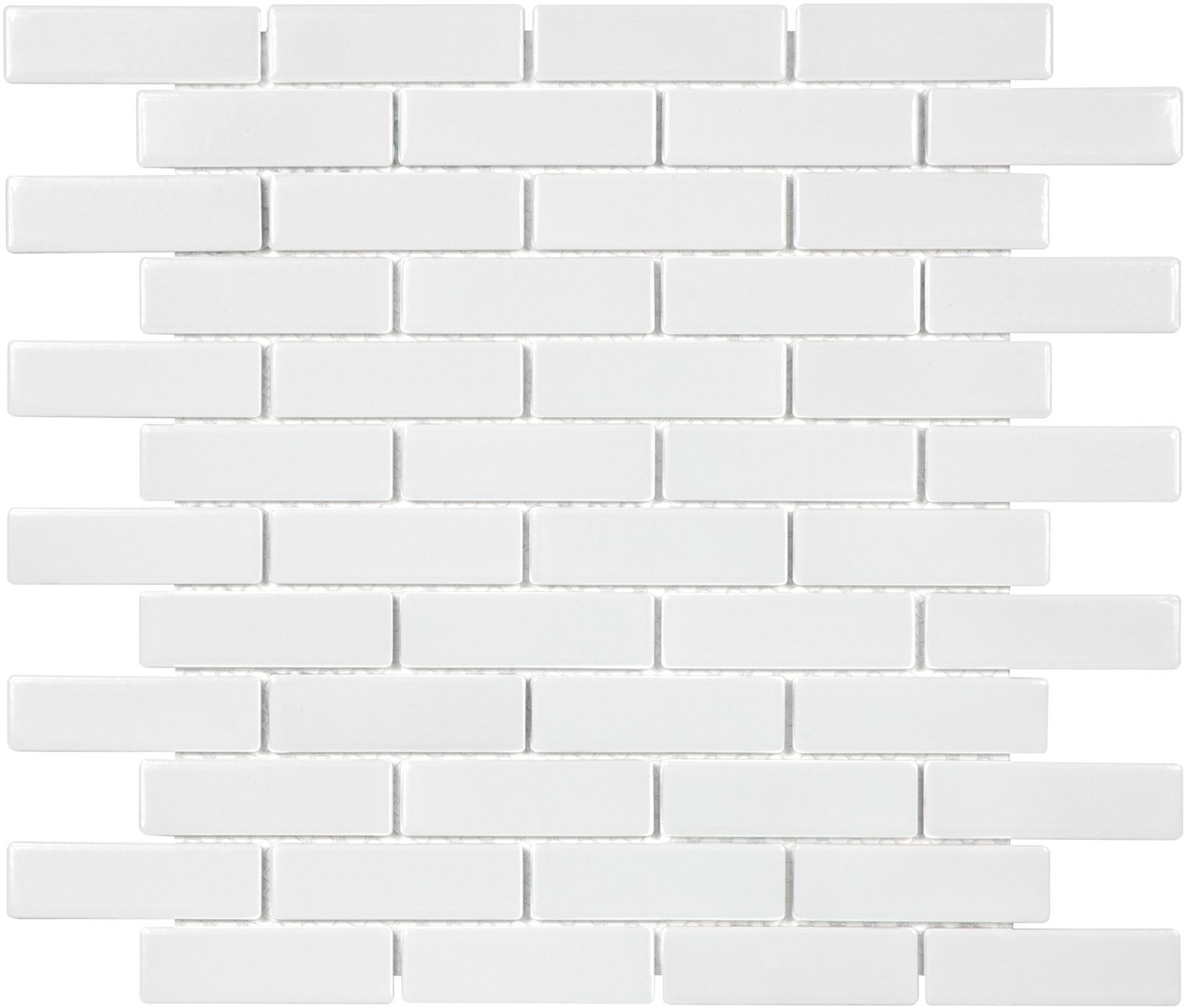 Sail 1 X 3 Ceramic Porcelain Mosaic Tile In White White Tile Backsplash Glossy White Porcelain Mosaic
