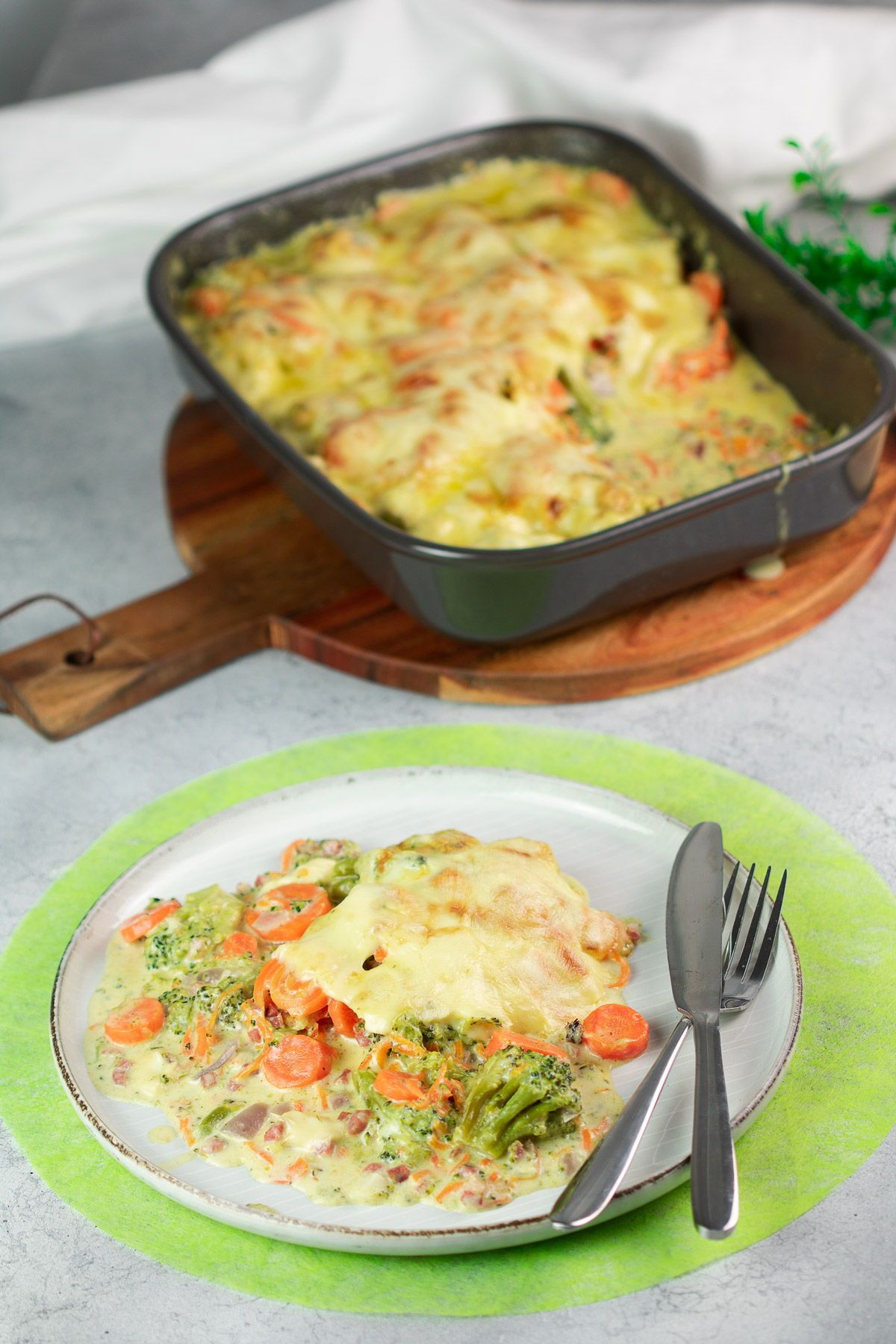Photo of Broccoli and Carrot Gratin – Low Carb – LCHF – GLUTEN FREE