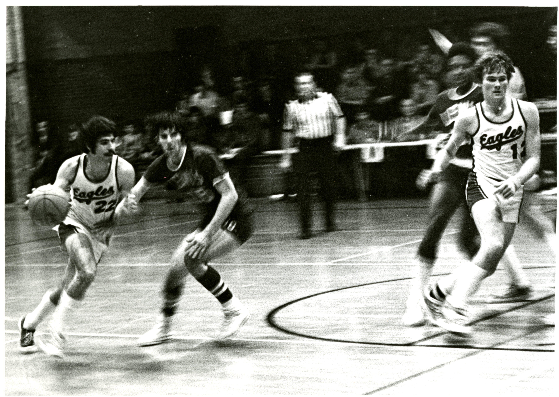 Illinois Benedictine College basketball game circa 1970s