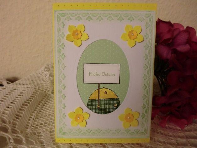 Osterkarten - Osterkarte - lustiges Küken - Frohe Ostern - ein Designerstück von kreativesherzerl bei DaWanda Cheerful Critters