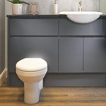 Marletti Grey Gloss Fitted Bathroom Furniture Fitted Bathroom Furniture Contemporary Bathrooms Bathroom