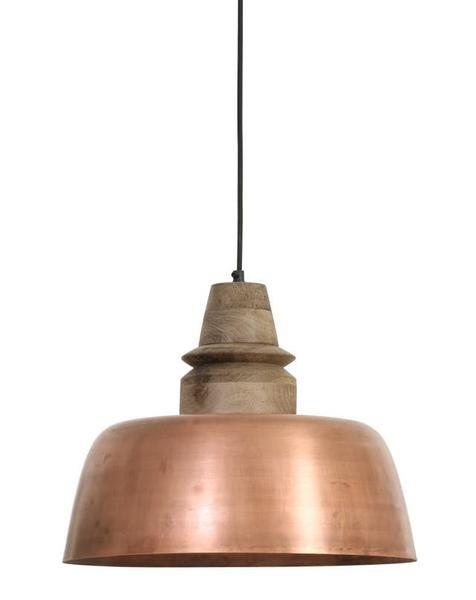 Copper Pendant Light Wood Top Copper Pendant Lights Copper Lighting Copper Light Fixture