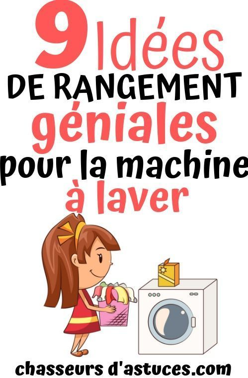 9 Idées de rangement géniales pour la machine à laver,  #ESPACEDERANGEMENT #géniales #Idées #laver #...