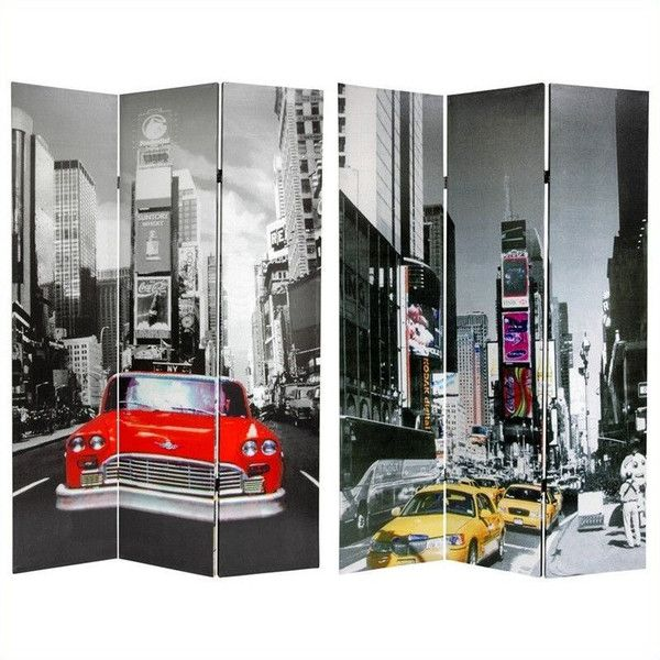 Oriental New York City Taxi Double Sided Room Divider ...