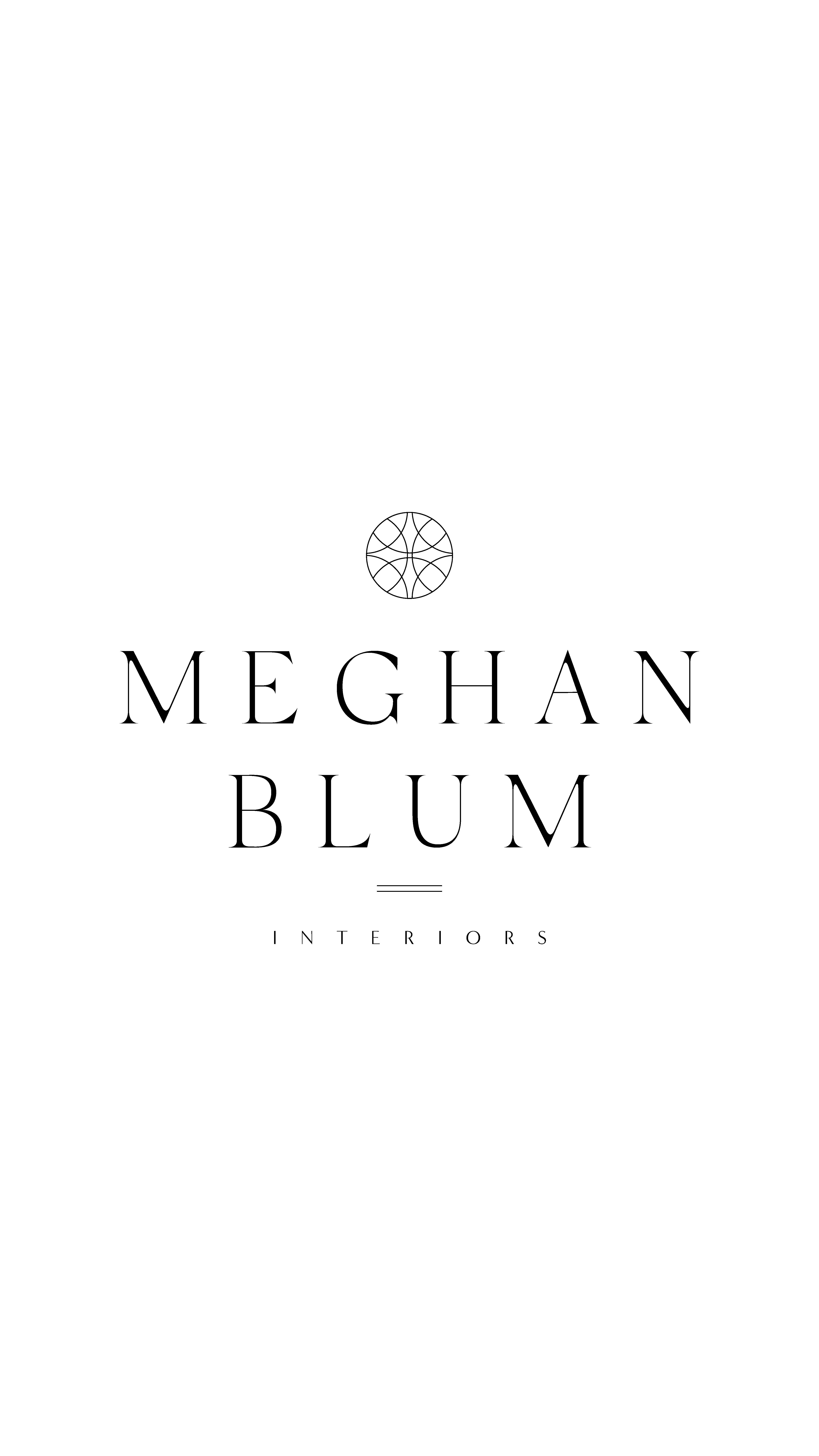 logo design and branding design for Meghan Blum Interiors