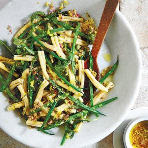Lemony Green Bean Pasta Salad #greenbean