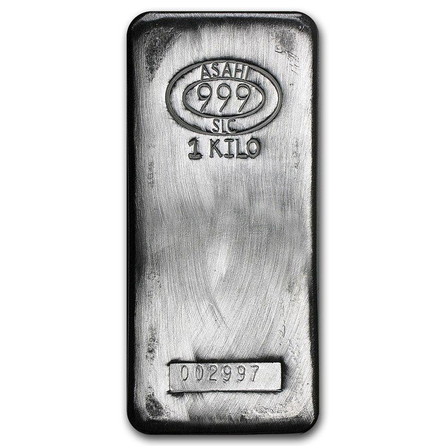 Asahi 1kg Silver Bar Silver Bars Silver Silver Bullion
