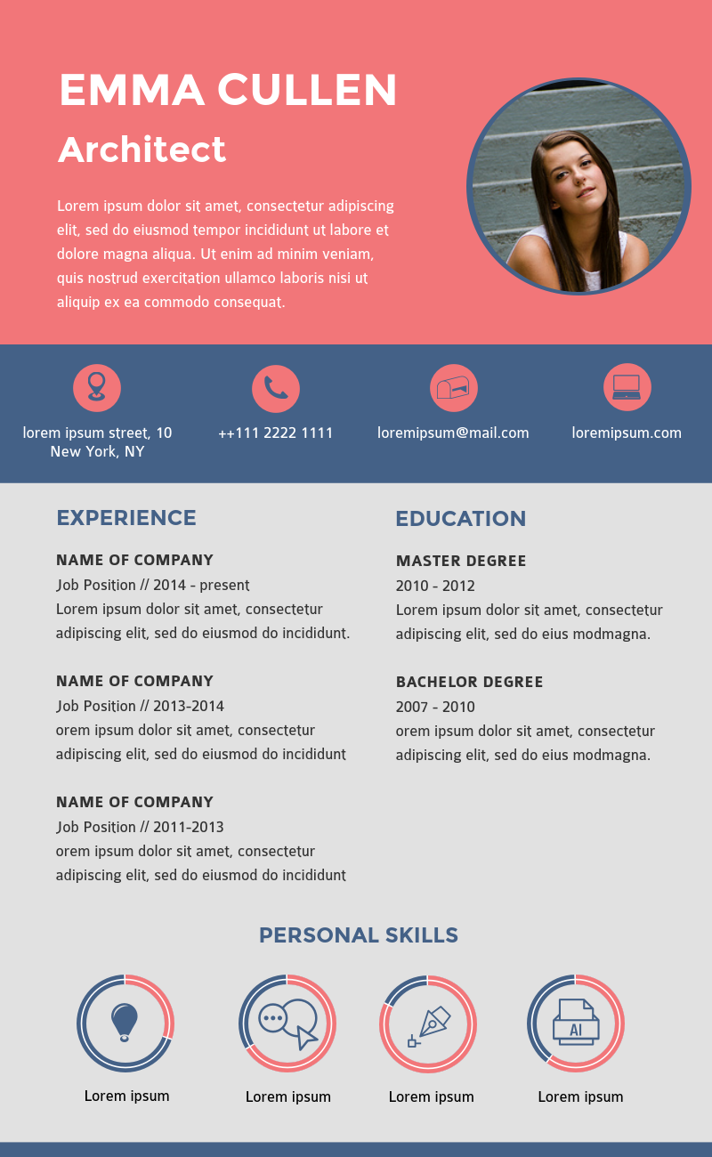 Creative Infographic Resume Template Available In Visme