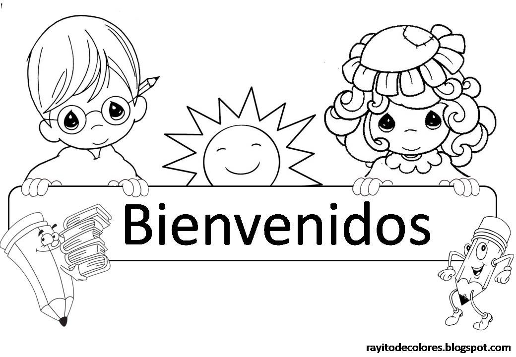 Imagenes De Bienvenida A Clase Coloring For Kids Toddler Learning Activities Coloring Pages