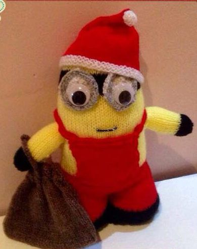 Knitting Pattern For Minion Santa This Knitting Pattern For A
