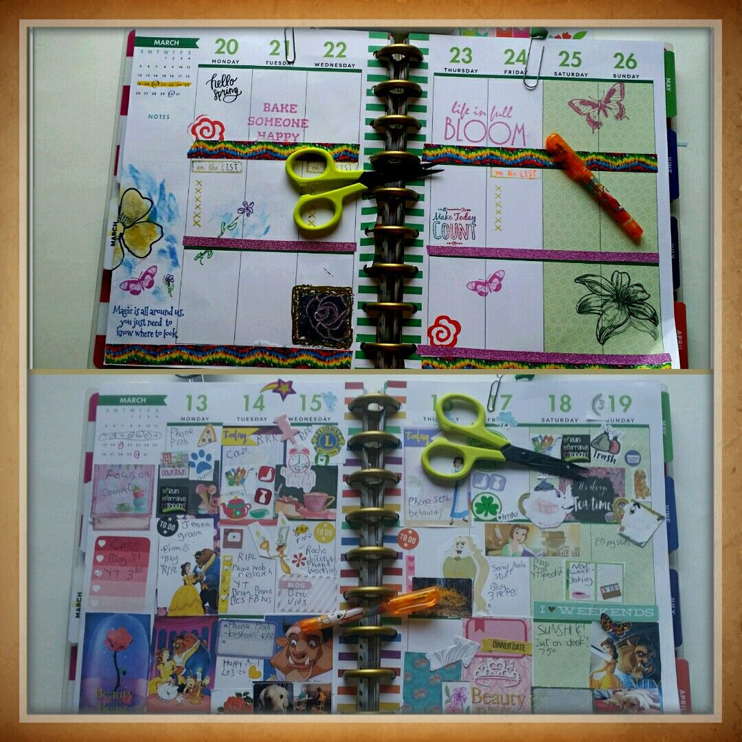 Last week completed and the beginning of this new week in my planner