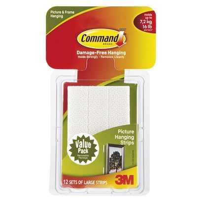 Command 12 Sets Of Strips Large Sized Picture Hanging Strips White Hanging Picture Frames Picture Hanging Picture Frame Hangers