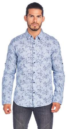 91e98d663fd0 Ladrft Men's Shirt With Floral Print And Roll Up Sleeve | Products ...