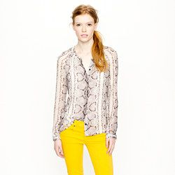 J Crew Collection snake-print blouse, Fall 2012