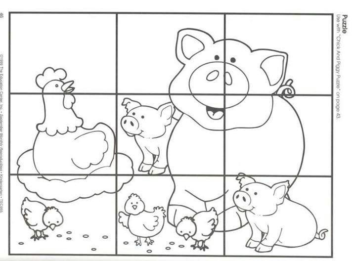 Puzzle Animales De La Granja Proyecto Escolar Con Imagenes