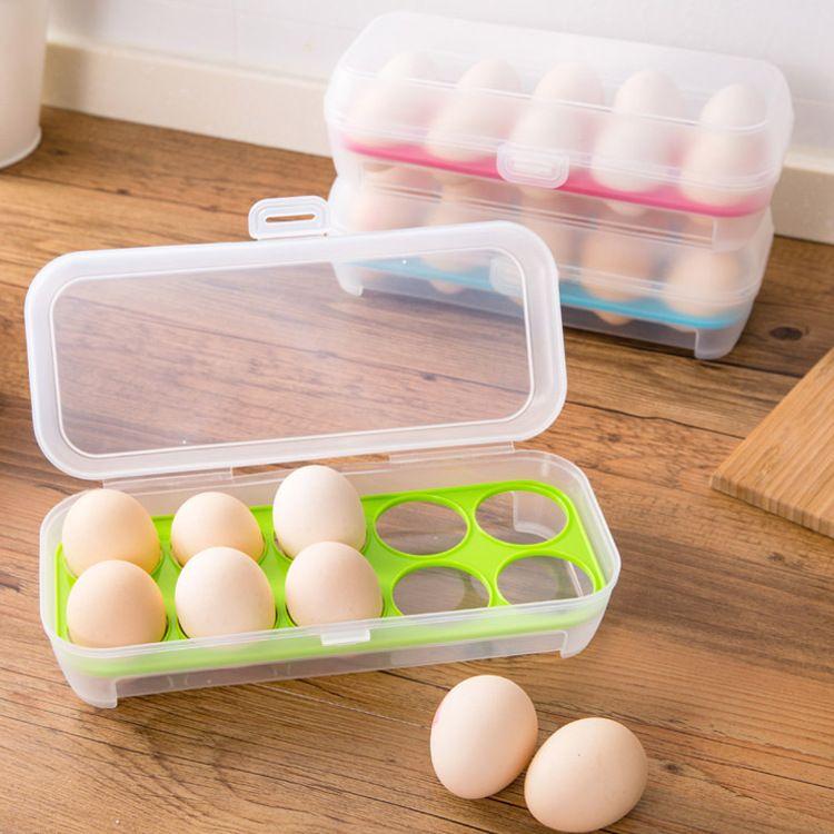 Portable Egg Container Carrier Case Basket Plastic Food Chicken Egg