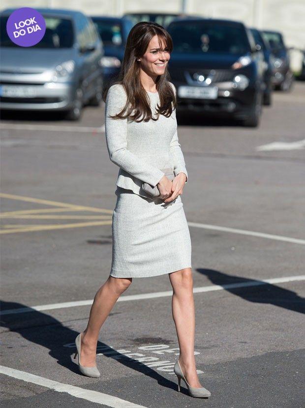 Look do dia: Kate Middleton usa vestido de R$2 mil em visita