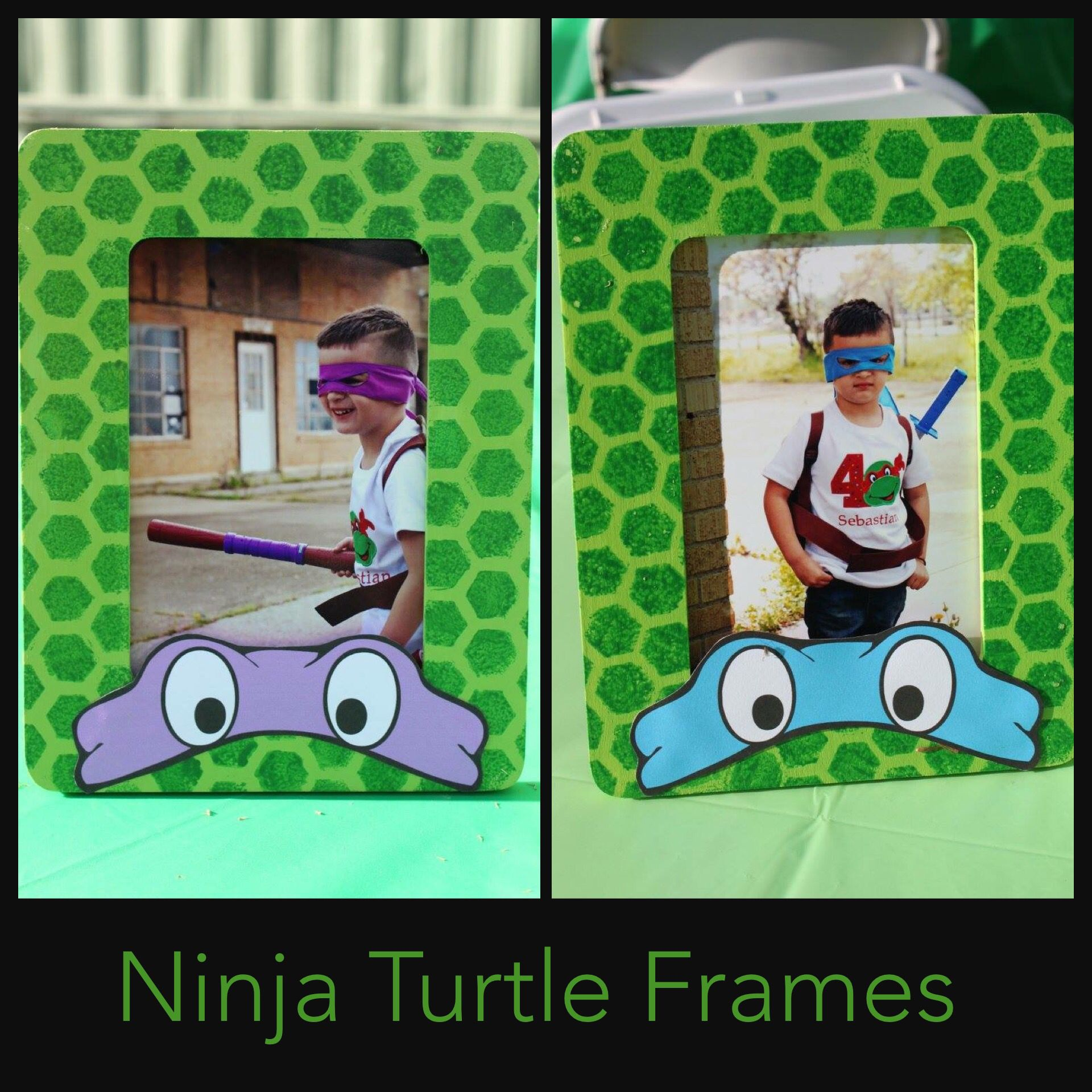 Ninja Turtle Party Picture Frames