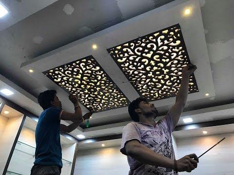 10 Mdf ज ल False Ceiling म क स लग य Mdf Jali Fitting In False Ceiling Garment St Ceiling Design Bedroom False Ceiling Design Pop False Ceiling Design