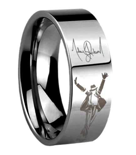 michael jackson memorabilia tungsten ring silver pinteres