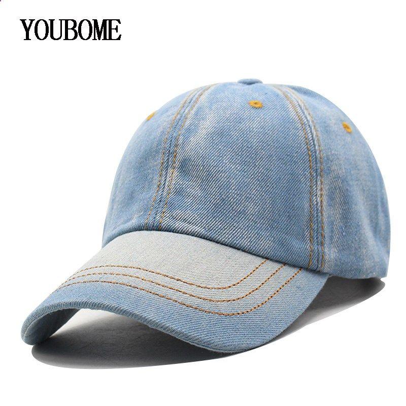 0a06dce1512 Baseball Cap Men Women Snapback Caps Brand Golf Hats For Women Visor Bone  Jeans Denim Blank Gorras Casquette Plain 2017 Cap Hat