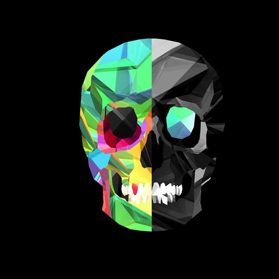 multi color skull