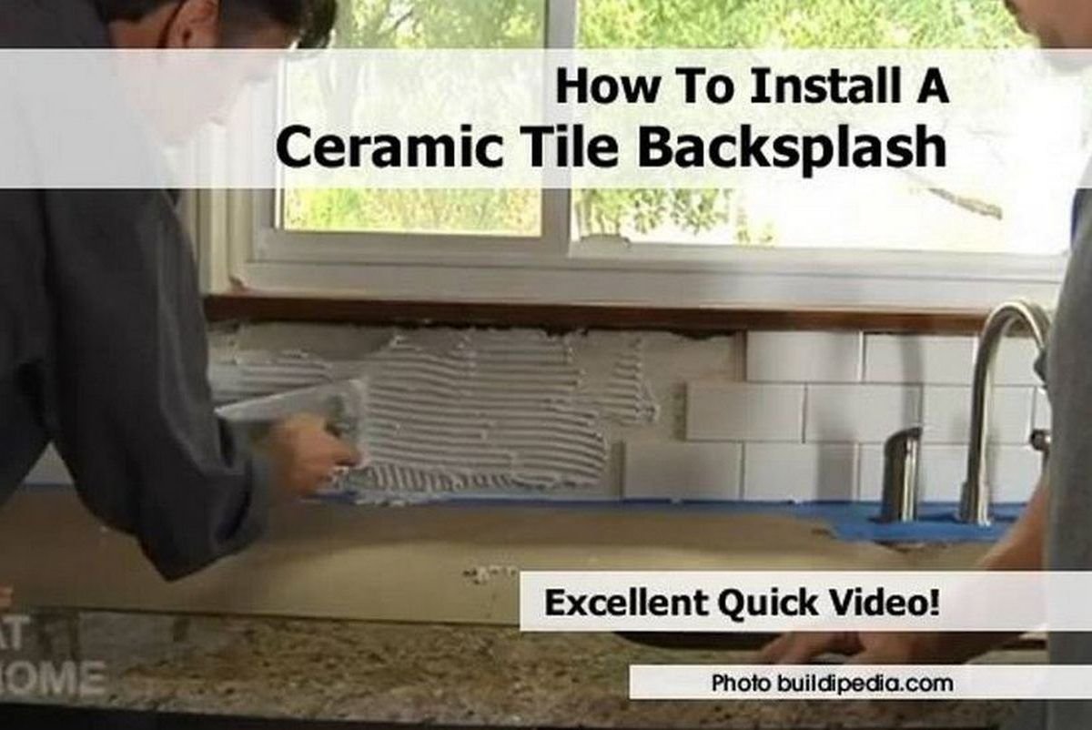 How Install Ceramic Tile Backsplash The Diy Kitchen Installer Will Find This